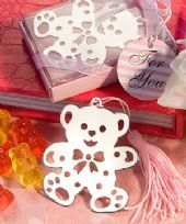 Lovable Teddy Bear Design Book Marker In Pink Box